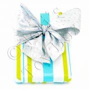 Single-Gift-Wrap-Green-Teal-Stripes-03